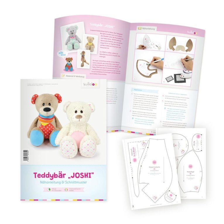 "Papierschnittmuster Teddybär ""JOSHI"" Nähanleitung"