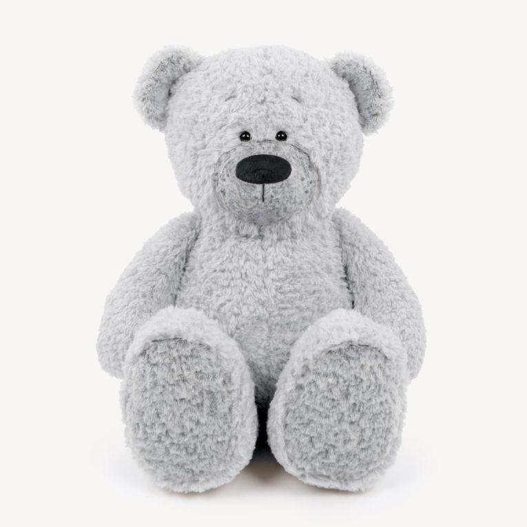 """Teddybär """"JOSHI"""" aus Fine Teddy in hellem silbergrau"""