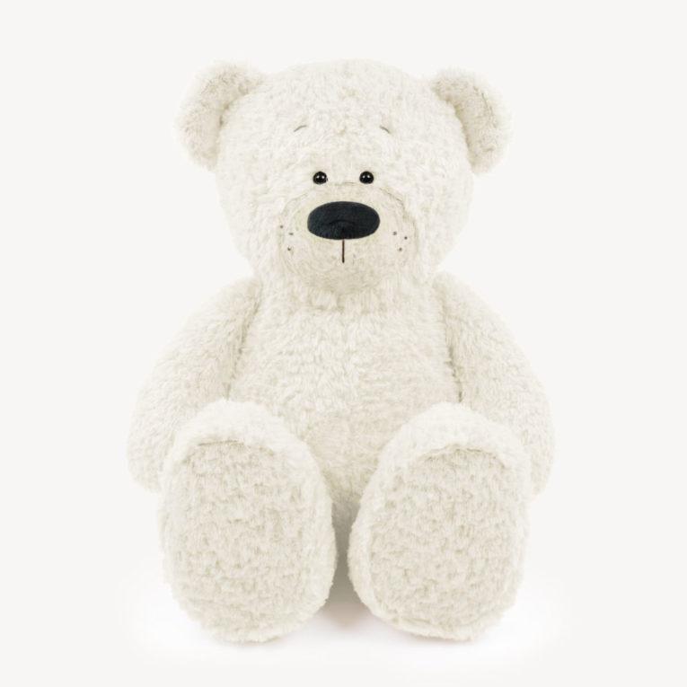 """Teddybär """"JOSHI"""" aus Fine Teddy in wollweiß"""