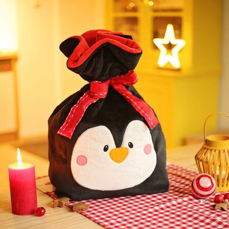 Geschenkverpackung nähen: Weihnachtssack Freebook