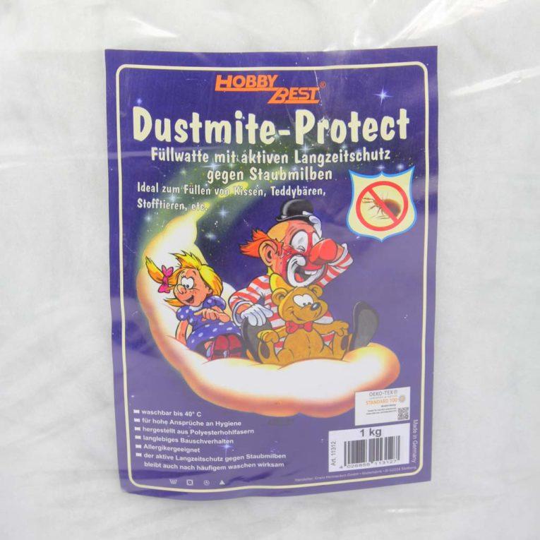 """Füllwatte Allergiker geeignet """"Dustmite-protect"""", Öko-Tex, 1kg, weiß"""