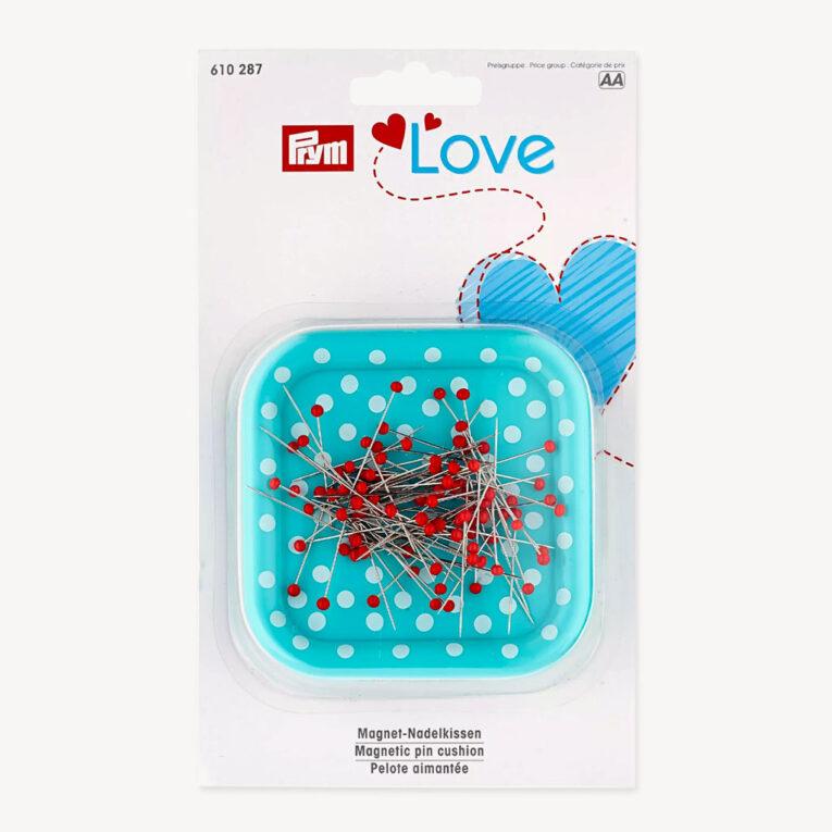 """Magnetnadelkissen """"Prym Love"""" mit Glaskopfstecknadeln"""