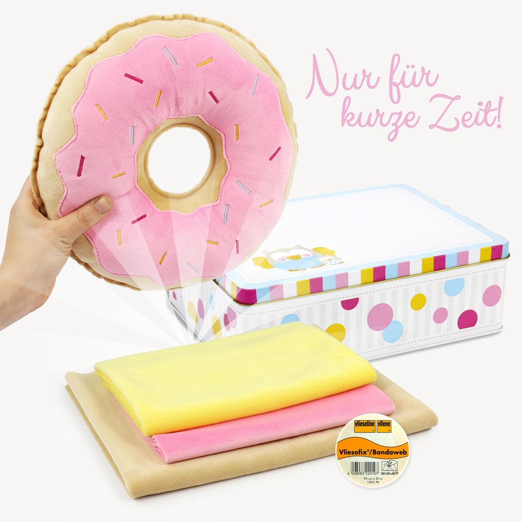 Nähset für Mini-Donut-Kissen