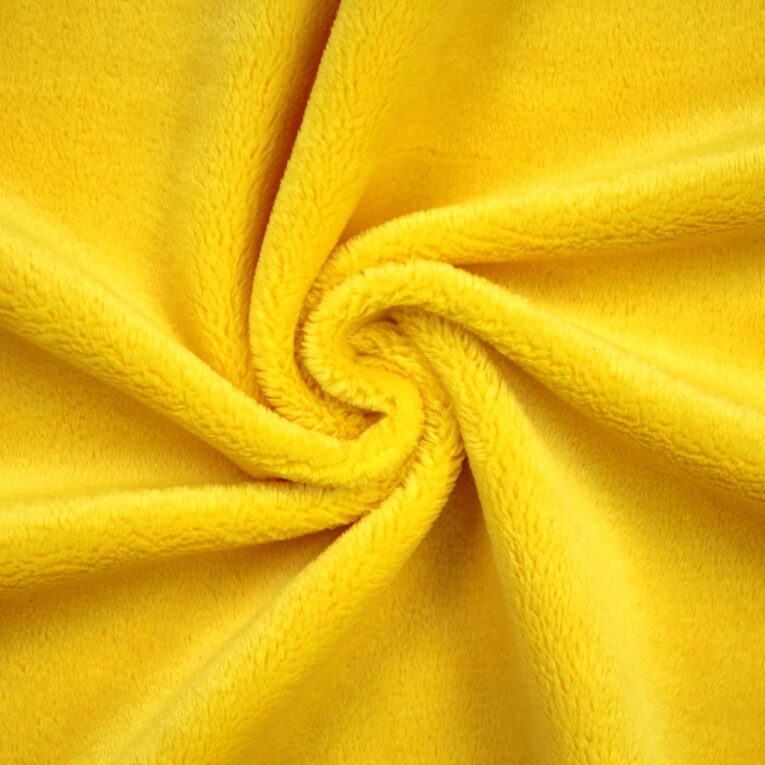 "PlushMinky™ Minky Stoff gelb (""Aspen Gold"") – 3 mm Flor"