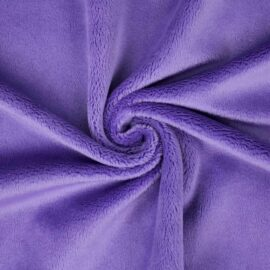 "PlushMinky™ Minky Stoff lila (""Aster Purple"") – 3 mm Flor"