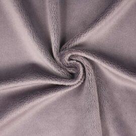 "PlushMinky™ Minky Stoff grau (""Cloud Grey"") – 3 mm Flor"