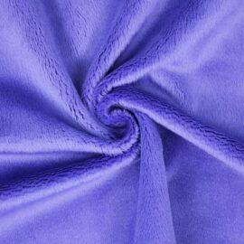 "PlushMinky™ Minky Stoff blau-lila (""Iris Bloom"") – 3 mm Flor"