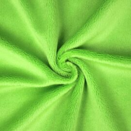 "PlushMinky™ Minky Stoff grün (""Jasmine Green"") – 3 mm Flor"