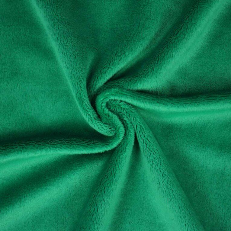 "PlushMinky™ Minky Stoff blattgrün (""Mint"") – 3 mm Flor"