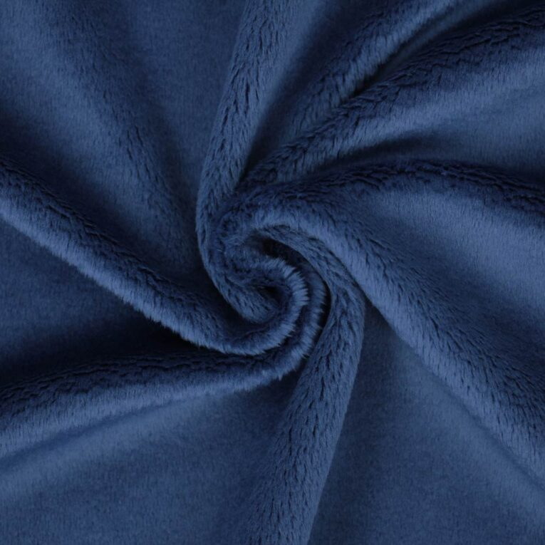 "PlushMinky™ Minky Stoff dunkelblau (""Navi"") – 3 mm Flor"