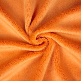 "PlushMinky™ Minky Stoff orange (""Nectarine"") – 3 mm Flor"