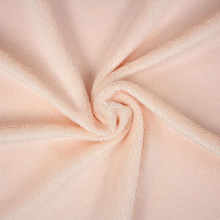 """PlushMinky™ Minky Stoff hellrosa (""""Soft Pink"""") – 3 mm Flor"""