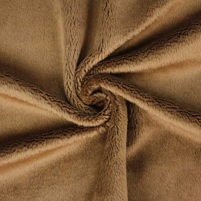 "PlushMinky™ Minky Stoff braun (""Toasted Coconut"") – 3 mm Flor"