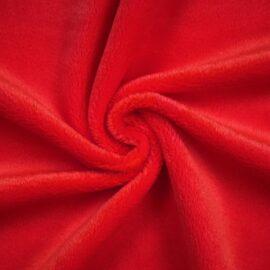 """PlushMinky™ Minky Stoff rot (""""Tomato"""") – 3 mm Flor"""