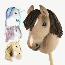 "Hobby Horse Schnittmuster ""HOLLY"": Steckenpferd, Frisierkopf, Wanddekoration & Umschnallpferd"