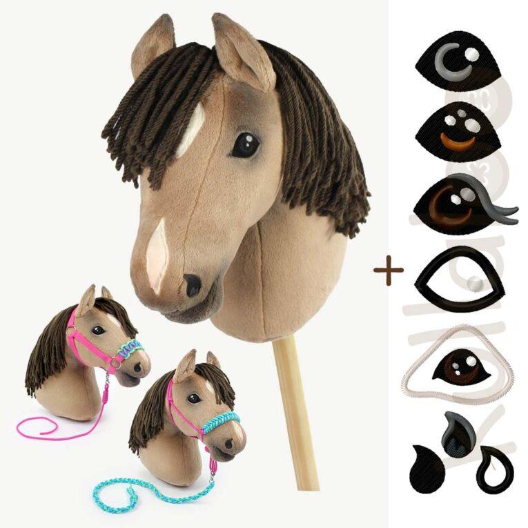 Hobby Horse nähen: Schnittmuster + Anleitung für Zubehör + Stickdateien