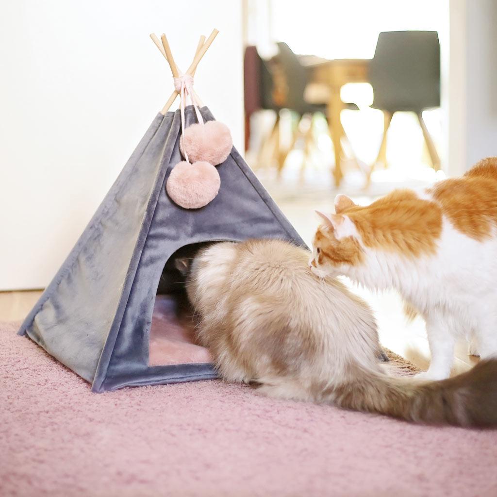 Katzentipi DIY: Katzenzelt nähen mit Freebook und Videoanleitung