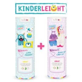 Kinder Nähsets Nähkurs KINDERLEICHT im Duppelpack