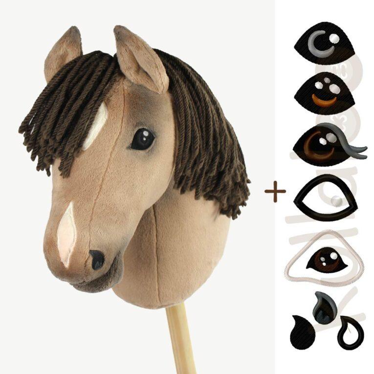 """Schnittmuster Hobby Horse """"HOLLY"""" mit Stickdateien für Augen & Nüstern"""