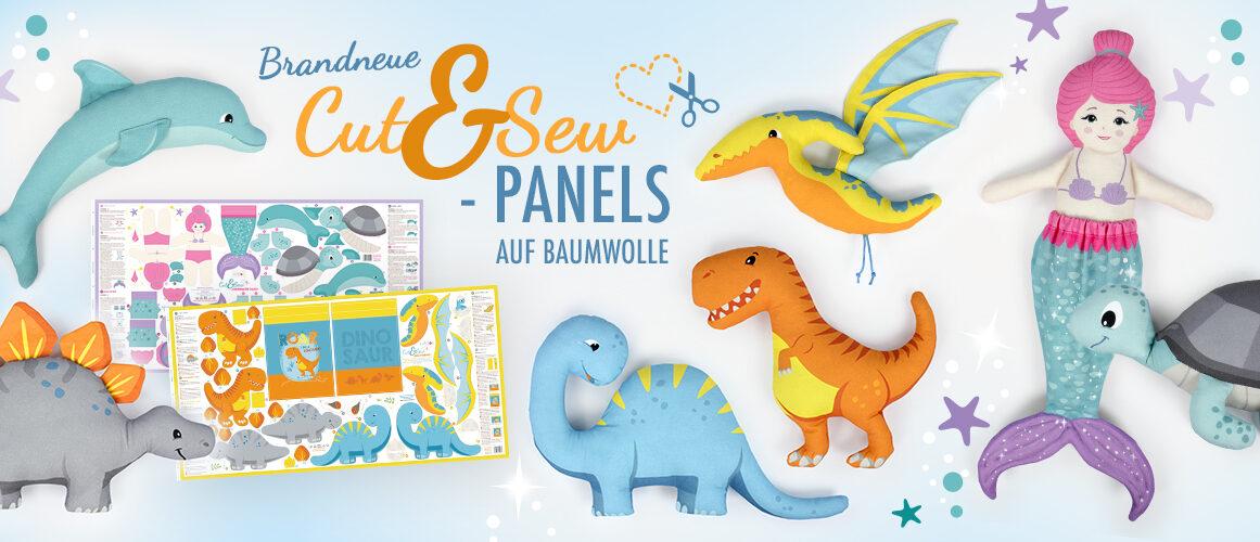 Cut&Sew Panels Dino & Meerjungfrau