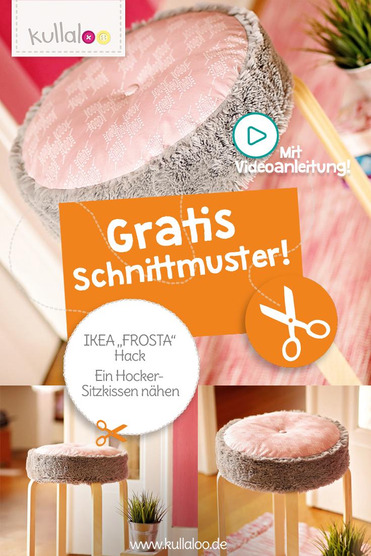IKEA FROSTA Hack: Sitzkissen nähen
