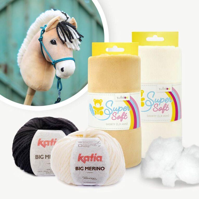 "Materialpaket Hobby Horse Fjordpferd für Schnittmuster ""HOLLY"""