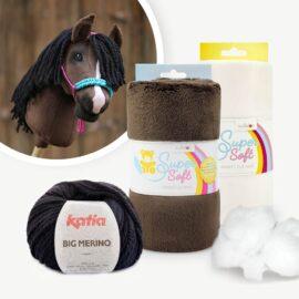 "Materialpaket mit Hobby Horse Stoff dunkelbraun für Schnittmuster ""HOLLY"""