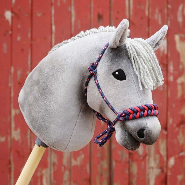 Hobby Horse Apfelschimmel mit Plüschstoff grau