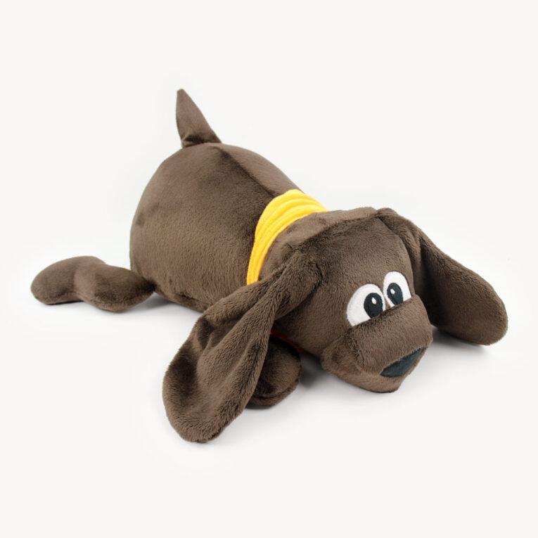 "Hund ""WUFFL"" in SNUGLY terrabraun"