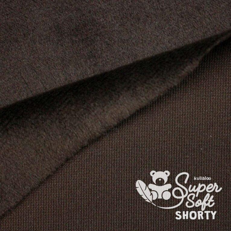 Velboa Plüschstoff dunkelbraun / schokolade – 1,5 mm SuperSoft SHORTY