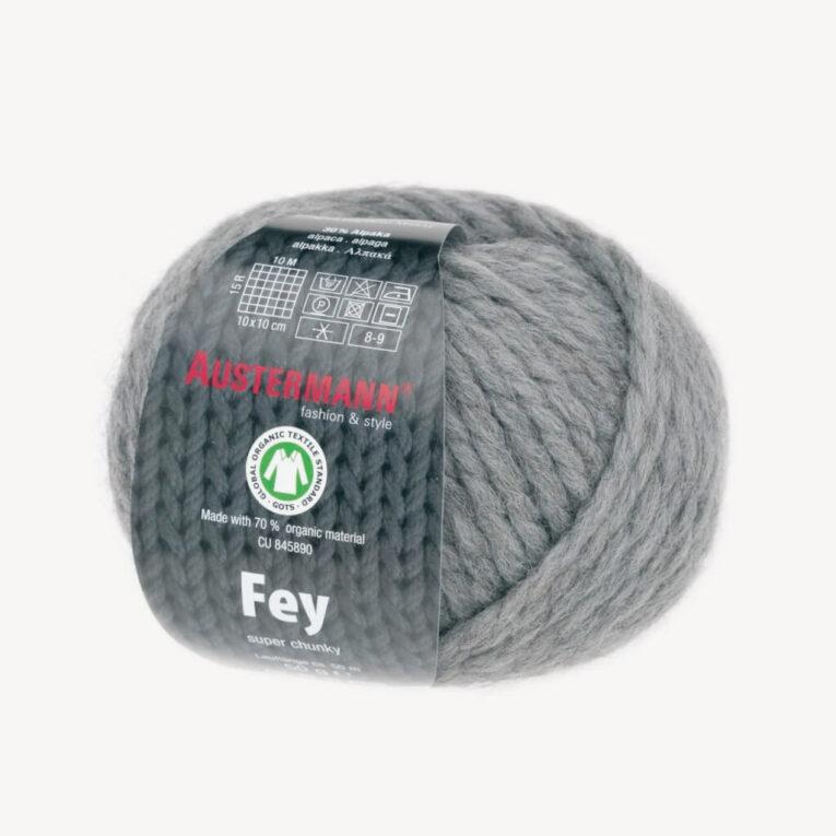 Wolle FEY grau zum Hobby Horse Mähne flechten, GOTS-zertifiziert – AUSTERMANN