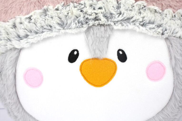 "Pinguin nähen mit Schnittmuster Pinguin Kissen ""PEPPA"""