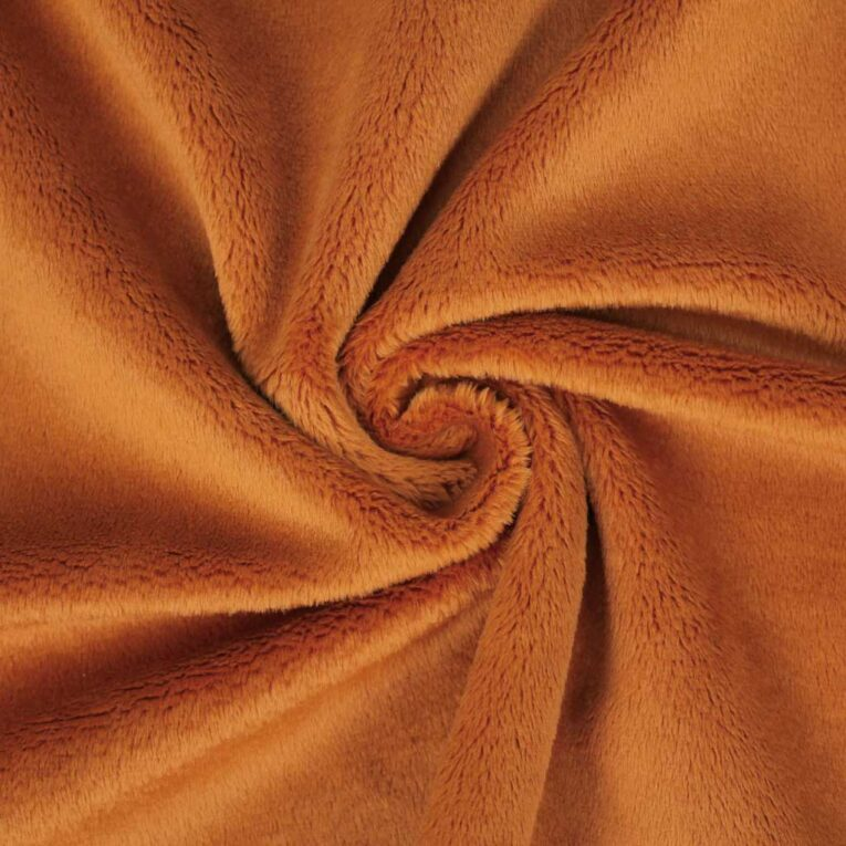 "PlushMinky™ Minky Stoff ginger / orangerot (""Pumpkin Spice"") – 3 mm Flor – 0,5m"