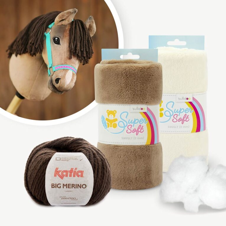 """Materialpaket mit Hobby Horse Stoff braun für Schnittmuster """"HOLLY"""""""