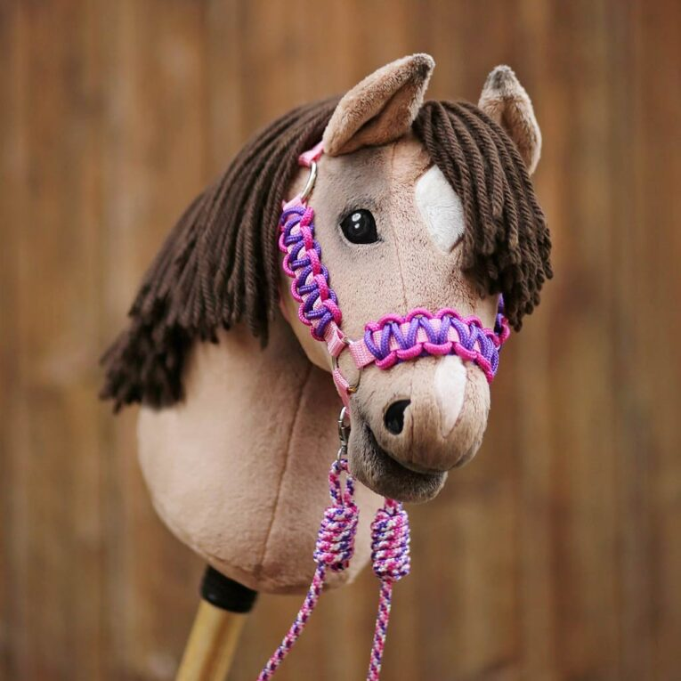 Hobby Horse Halfter Materialset lila-pink