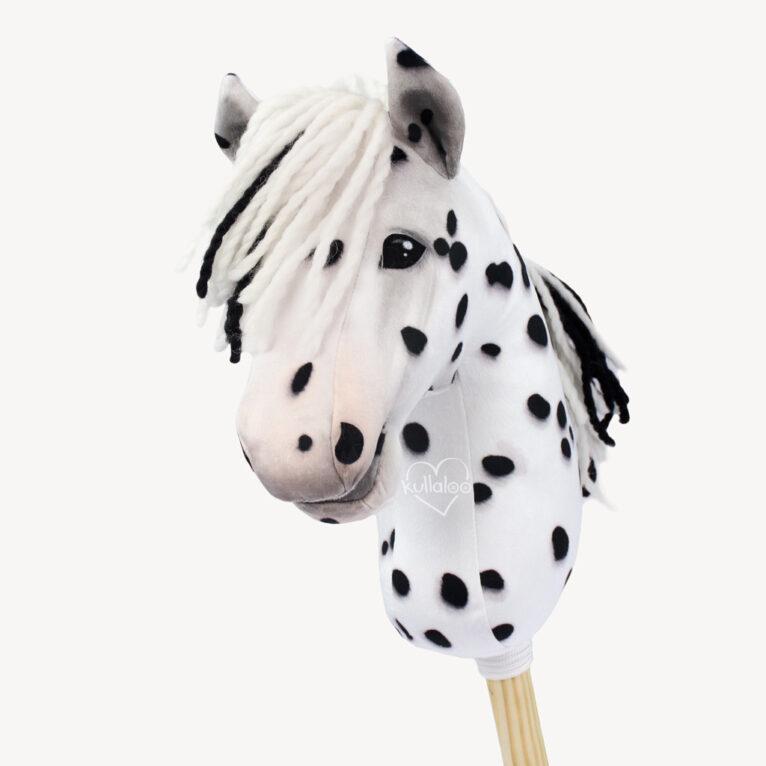 Hobby Horse Stoff Tigerschecke / Dalmatiner – 1,5 mm SuperSoft SHORTY – Panel 100 x 75 cm