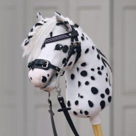 Hobby Horse Hackamore basteln mit Materialset Leder schwarz