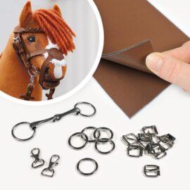 Hobby Horse Trense selber machen: Bastel-Set mit Leder in braun