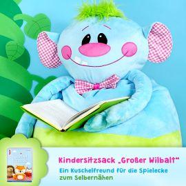 """Schnittmuster Kindersitzsack """"Großer Wilbalt"""""""